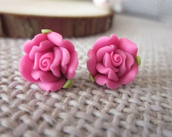 20 pcs 12mm  Polymer Clay Flower Beads, FIMO rose Pendant, Charm craft jewelry, wedding,Necklaces Earrings Bracelet Accessories-23