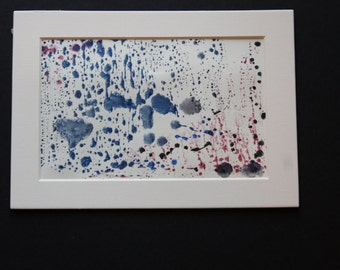 Drops of Blue - Abstract Watercolor -