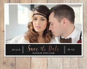 Classic Calligraphy Wedding Postcard Save the Date Announcement Card Printable OR Professionally Printed Card