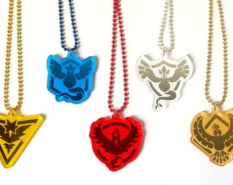 Pokemon GO Team Necklace - Laser Cut