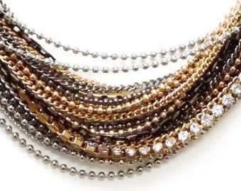 28 chains_  Multi-ply Necklace Bottom Strands