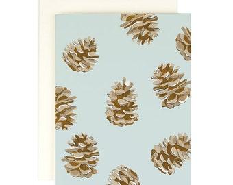 Pinecone Holiday Card- Greeting Card