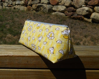 Pencil Case, Yellow Duckies, Duck Pencil Pouch, One of a Kind