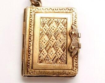 Dainty Victorian Gold Filed Book Locket
