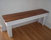 Farmhouse Bench- Entryway Bench- Kitchen Bench- Mudroom Bench- Living Room Bench