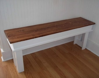 Farmhouse Bench- Entryway Bench- Kitchen Bench- Mudroom Bench-  Furniture  , Living Room Bench