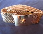 Gold Metal Scales Belt