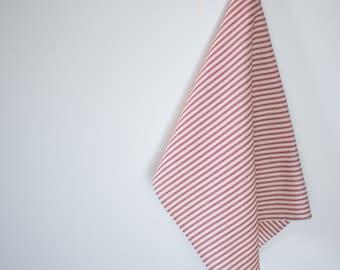Red Cotton Ticking  Tea Towel  Hand  Dish Towel