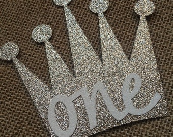 Light Gold Glitter Crown Cake Topper **READY TO SHIP**