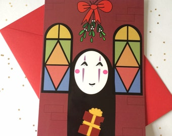 No Face Spirited Away Christmas Card