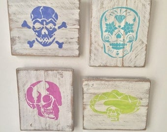 Skull Wall Hangings - 4 piece