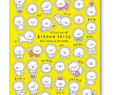 Japan Mind wave seals Cute DOGS stickers sheet supplies, kawaii petite stickers, Scrapbooking material - 1 sheet - 78238