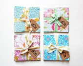 Vintage Sheet Fabric Bundle, Precut Fabric Squares, Quilting Fabric Bundles, Precut Quilt Kit, Retro Floral Fabric, Vintage Craft Supplies