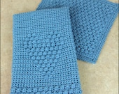 Blueberry Dishcloth and Heartfelt Dish Towel - CROCHET PATTERN