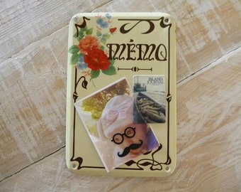 French Enamel Memo Sign Vintage French Shabby Chic Style