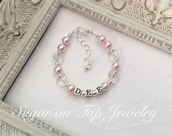Butterfly Bracelet-Personalized baby bracelet-FREE SHIPPING-baby name bracelet-baby id bracelet