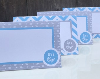 FOLLOW YOUR ARROW Theme Birthday or Baby Shower Buffet Cards Place Cards {Set of 8} - Party Packs Available