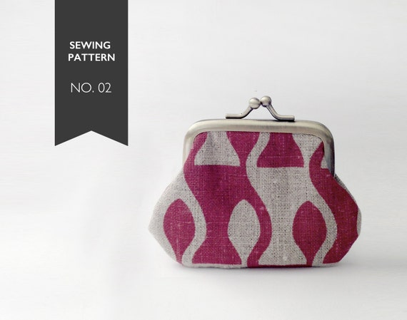 Snap Coin Purse Pattern - pdf tutorial and 2 templates