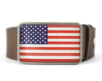 American Flag Belt Buckle, United States belt buckle