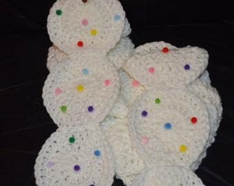 Crocheted Sprinkled Sugar Cookie Scarf