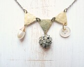 Boho shabby chic flapper triangles necklace - Suzanne