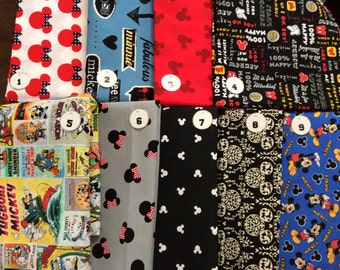 Disney Fabrics -- NOT FOR PURCHASE-- Passport Holders Custom Made Mickey Mouse/Minnie Mouse Fabric -- please Convo me with Questions