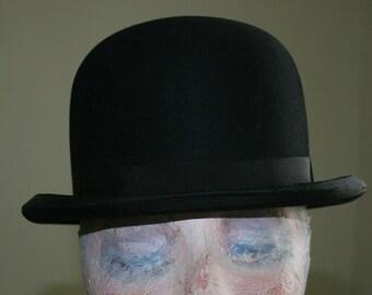 Steampunk Bowler Vintage 1920s Holmes Company Wichita Kansas Bowler Hat Size Small