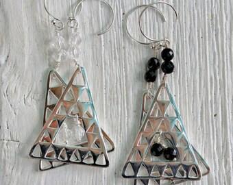 Silver Island Earrings
