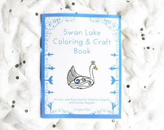 Swan Lake Coloring & Craft Book by Crafterina Holiday Present - Ballet - Gift - Kids - Dance - Ballerina Crafts