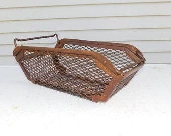 Wire Basket  Industrial Vintage Metal Mesh industrial Basket Metal Box