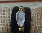 Galaxy Stone Leather Bracelet
