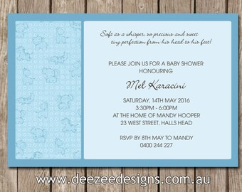 Personalised Baby Shower Invitations - YOU PRINT