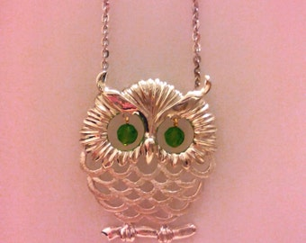 925 Sterling Silver Owl Pendant