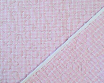 "Baby Girl Quilted Blanket 43"" x 46"""