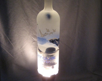 Custom Lava Lamp Light Grey Goose Vodka 1 liter