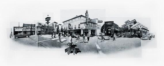 Portland Fine Art - Original Art - Photographic Etching - Art Print - Photography - Oregon - Photogravure - Photo Collage - Hawthorne Street