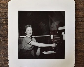 Original Vintage Photograph The Surprised Switchboard Operator 1955