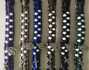 Paracord Rosary Bracelet