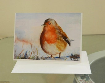 Snow Bird - Set of 5 Greeting Cards of my original watercolor painting