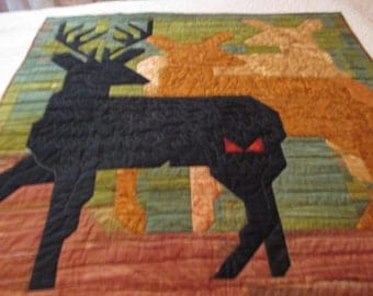 Wildlife quilt/wall hanging of three Deer