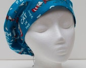 Ladies Surgical Scrub Hat - Cap - Bouffant - The Cat in the Hat Dr. Seuss