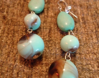 Boho Gypsy Inspired Southwestern Desert & Blue Skies Drop Style Earrings