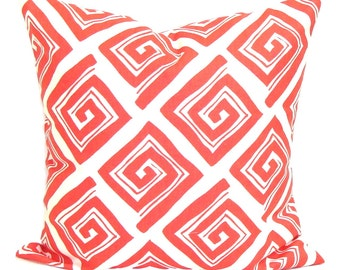 CORAL Pillow Sale, Pillow Cover, Decorative Pillow, 14x14, Small Coral Pillow, Coral Accent Pillow, Small Pillow, Coral Bedding,Cushion