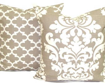 Moroccan Pillow Cover Cream Pillow Taupe Throw Pillows