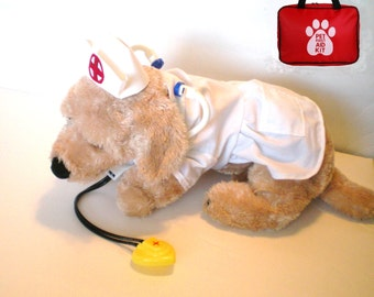 "DOG COSTUME, ""nurse pup"" Dog Costume, Halloween For Pets,"
