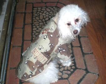 Dog Coat, Tan Camo Dog Coat, Military Dog Coat, Personalized