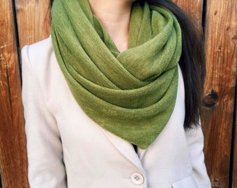 Infinity Scarves, Wrap Shawl, Best Selling Item, Olive Green Scarf, Soft thick Winter Scarf - By PiYOYO