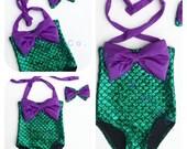 REGINA- Little girl mermaid swimsuit, Little Mermaid swimsuit, Disney mermaid bikini, mermaid bikini, The little mermaid bikinis