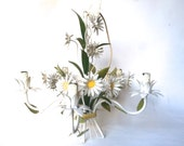 French vintage floral tole chandelier,light fixture,ceiling light