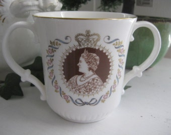 REDUCED: Royal Doulton Queen Mother 80th B'day Loving Cup